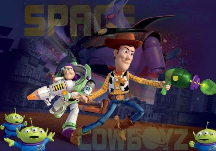 Toy Story Space cowboys large wallpaper